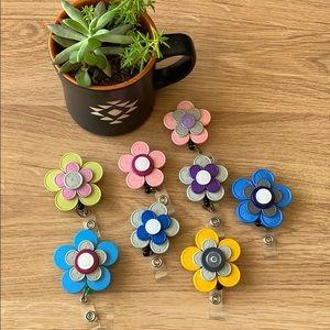 Accessories - Flower ID Work Badge Reel Holders